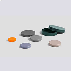 Bits and Bobs Colour 彩色圆形玻璃杂物首饰收纳器皿带盖