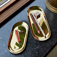 Tray 北欧简约金属色托盘置物盘杂物托盘居家饰品摆件