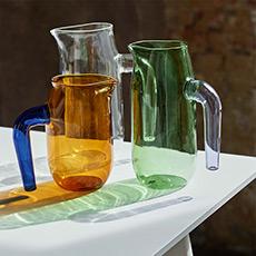 Jug 玻璃水壶撞色硼硅玻璃耐热水壶