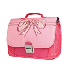 粉色蝴蝶结迷你英伦包