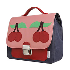 粉红樱桃英伦书包 ITN180137