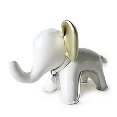 手工皮质玩偶 大象Abby纸镇